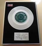 CHUBBY CHECKER - SLOW TWISTIN' PLATINUM Single Presentation DISC